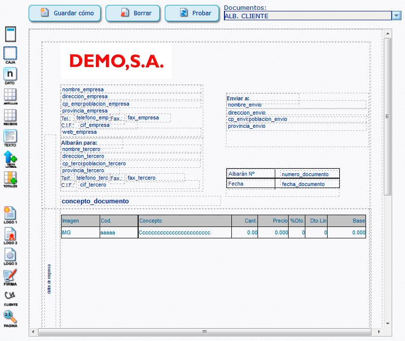 Personalizar documentos para imprimir - ERP Online myGESTIÓN
