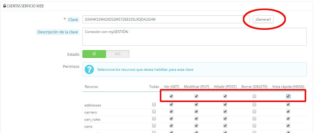 Añadir Webservice